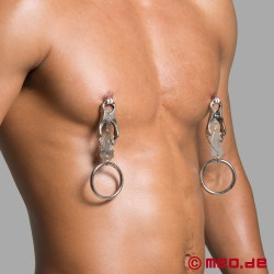 Clover nipple clamps with ring
