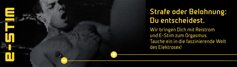 Mystim – E-Stim – Strafe oder Belohnung. Du entscheidest: Wir bringen Dich mit Reistrom und E-Stim zum Orgasmus. Tauche ein in die faszinierende Welt des Elektrosex.
